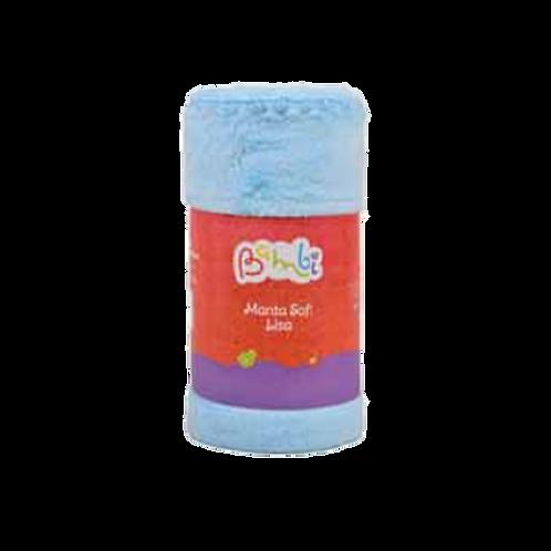 Manta Bebê Masculino Soft Azul Rolinho - Bambi