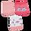 Thumbnail: Kit 3 Pares de Meias Bebê Recém Nascido (14-15) Feminino Branca e Rosa