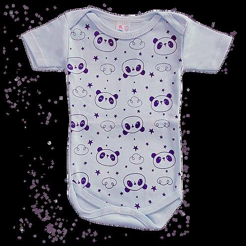 Body bebê Manga Curta Estampado Panda - Flaphy
