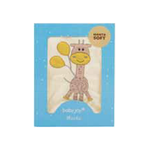 Manta Bebê Amarela Bordada Girafa - Baby Joy
