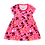 Thumbnail: Vestido Bebê Manga Curta Cotton Rosa Love