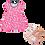 Thumbnail: Vestido Bebê Manga Curta Cotton Rosa Nuvens + Sandália Bebê Feminina Nude Verniz