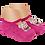 Thumbnail: Meia Bebê Sapatilha Rosa Antiderrapante (15 a 22)Ursinha Comilona