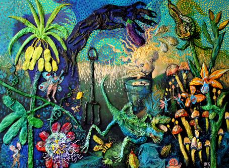 Wonderland, Narcissus and the Skink poem.