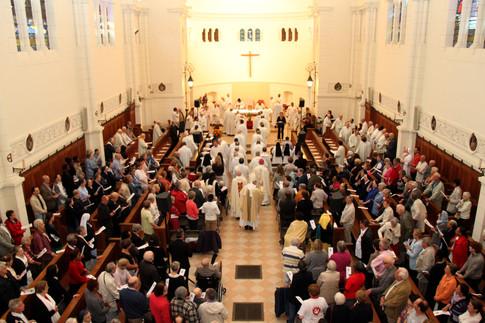 La grande chapelle de la communauté, pendant les célébrations du jubilé
