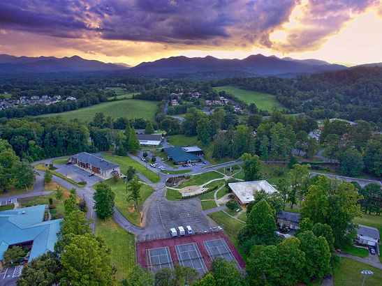 MPA's beautiful 200+ acre campus during a summer sunset.