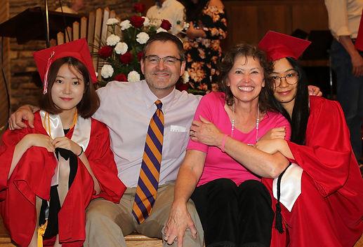 International Students celebrating graduation