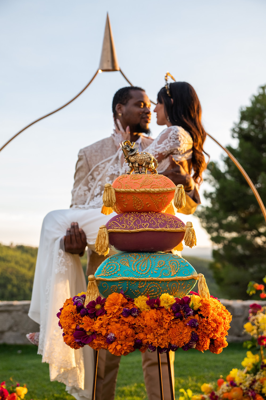 Tarta de boda estilo Bollywood, tarta de boda hindú, mehndi