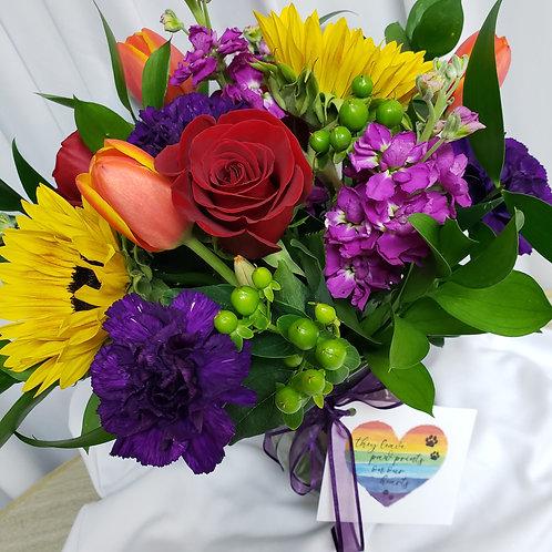Rainbow Bridge Bouquet