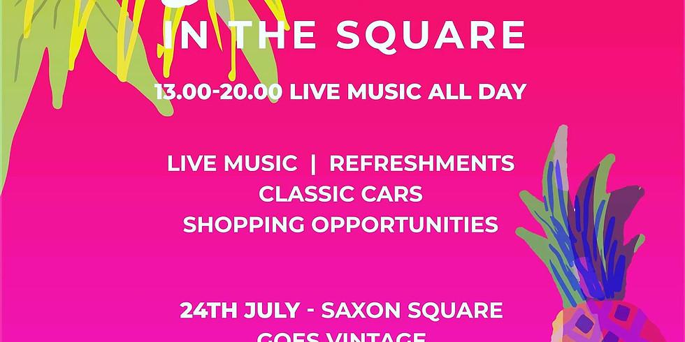 Saxon Square Goes Vintage