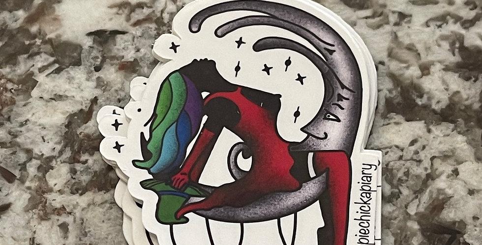 Moon Lady Sticker
