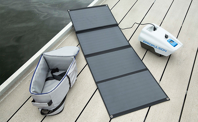 Electric Outboard Solar Charging