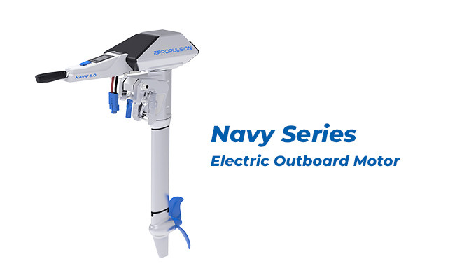 Navy Electric Outboard Motor