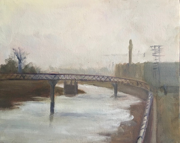Lacine Canal on a Misty Day December 2020