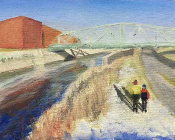 Two Boys at the Lachine Canal 2021