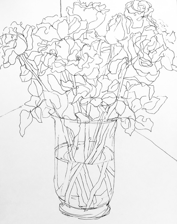 Vase of Roses 2018