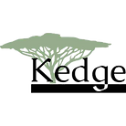 Kedge logo in front of a green drawing of an acacia tree
