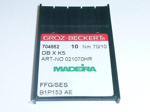 704852 10 Stück Nadeln für Stickmaschinen 70/10 FFG/SES DB X K5 Rundkolbennadeln