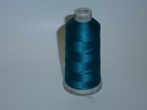 1890 türkisblaugün Polyneon Stickgarn für die Stickmaschine