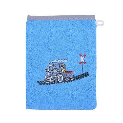 Waschlappen Waschhandschuh Eisenbahn Zug