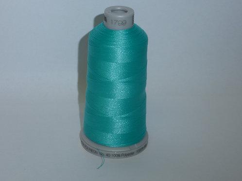 1799 eistürkisgrünblau Polyneon Stickgarn für die Stickmaschine