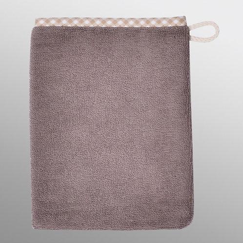 Waschlappen Waschhandschuh natur Vichy Rand
