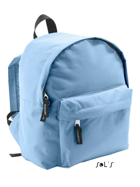 Kinderrucksack hellblau mit Namen ODER Motiv bestickt