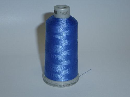 1830 strahlend lichtblau Polyneon Stickgarn für die Stickmaschine