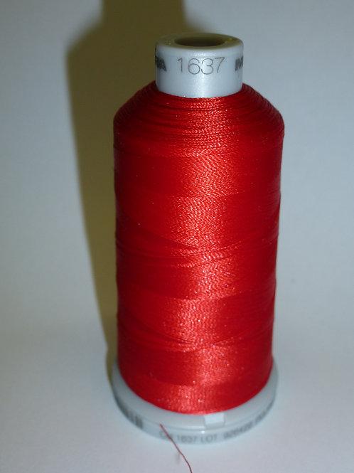 1637 rot Polyneon Stickgarn für die Stickmaschine