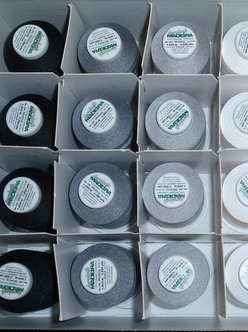 Overlockbox Grundfarben 24 Konen  Overlockgarn Madeira Aerolock 125