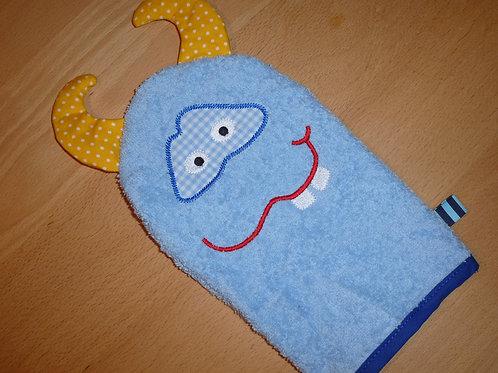 """""""SOCCO"""" Monster Waschlappen Waschen macht SPASS"""