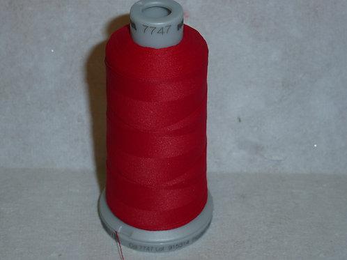 7747 rot Frosted Matt Stickgarn für die Stickmaschine von Madeira