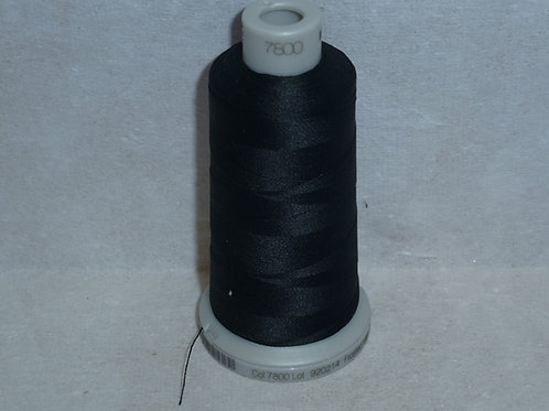7800 schwarz Frosted Matt Stickgarn für die Stickmaschine von Madeira