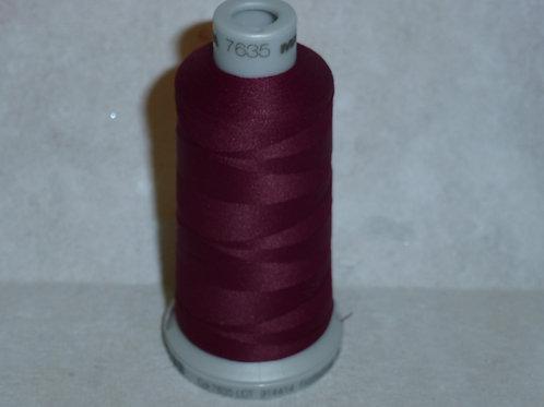 7635 burgund Frosted Matt Stickgarn für die Stickmaschine von Madeira