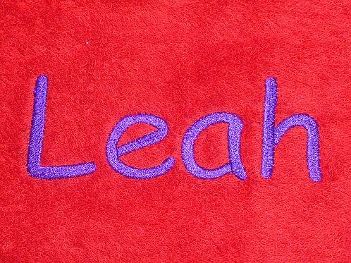 Gästehandtuch VOSSEN rot mit Namensbestickung Wunschname