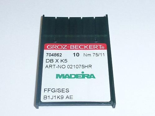 704862 10 Stück Nadeln für die Stickmaschine  DB X K5 FFG/SES 75/11 Rundkolben