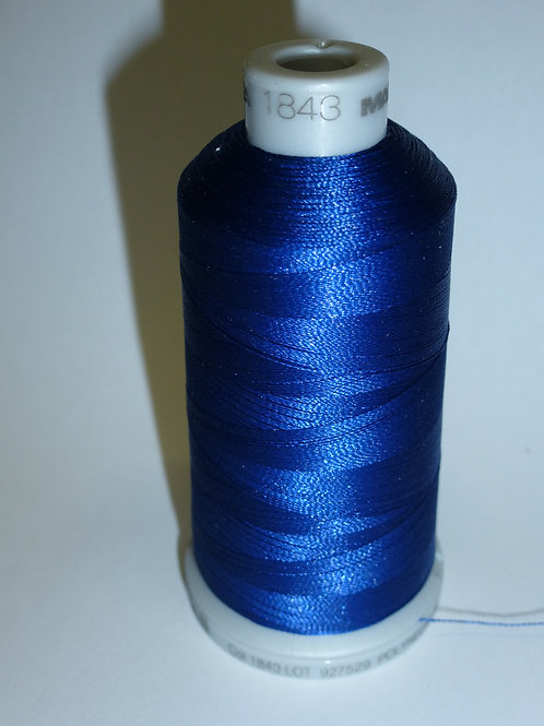1843 orientblau Polyneon Stickgarn für die Stickmaschine