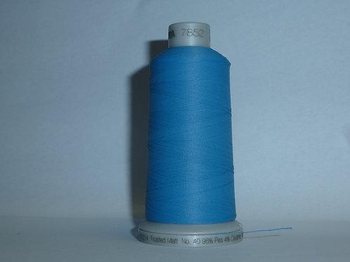 7852 türkischblau Frosted Matt Stickgarn für die Stickmaschine von M