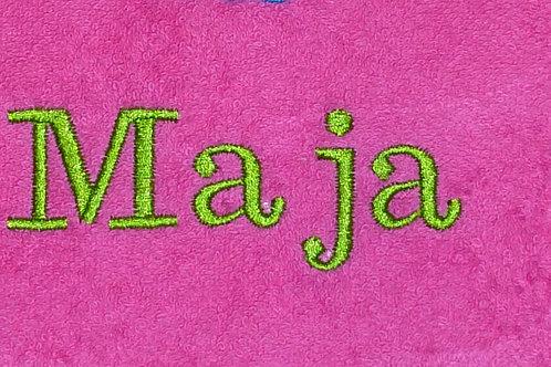 Gästehandtuch VOSSEN rosa/pink mit Namensbestickung Wunschname