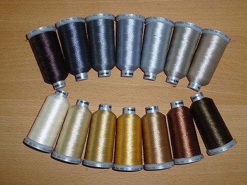 Zusatz-Set braun-grau Töne Madeira Stickgarn 14 Farben Polyneon 40 TOP