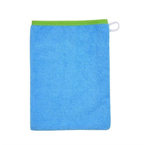 Waschlappen Waschhandschuh türkis-grün