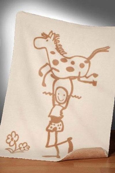 GOTS BIO Babydecke Pipi mit Pferd