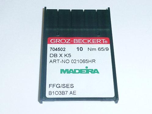 10 Stück Nadeln für die Stickmaschine 704502 DB X K5 FFG/SES 65/9 Rundkolben