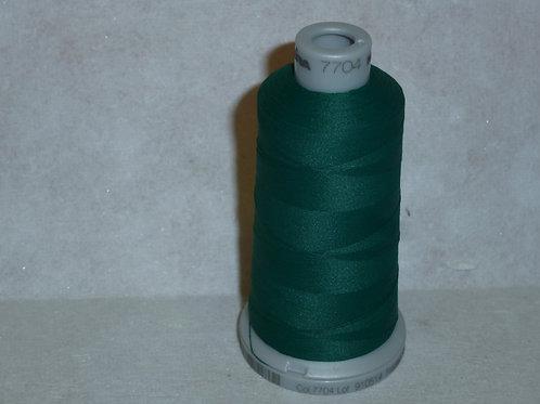 7704 dunkelgrün Frosted Matt Stickgarn für die Stickmaschine von Madeira
