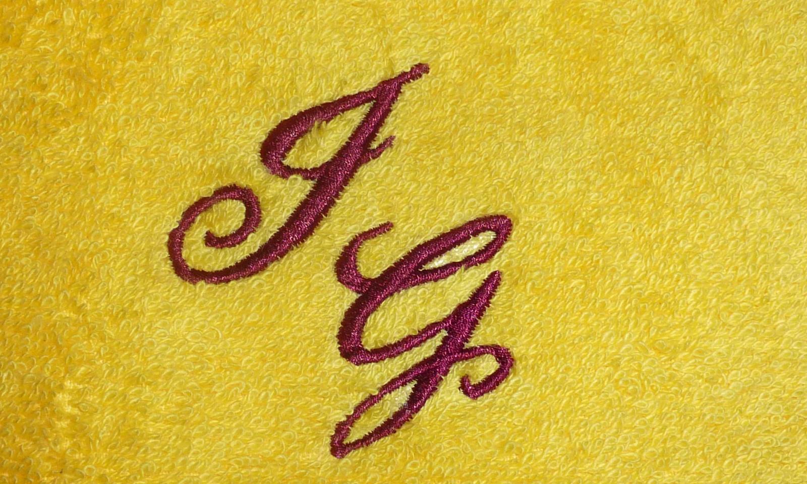 Handtuch mit Initialen