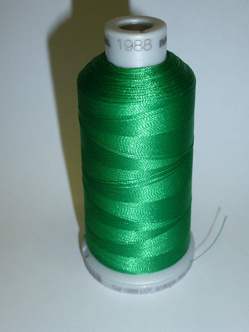 1988 grün Polyneon Stickgarn für die Stickmaschine