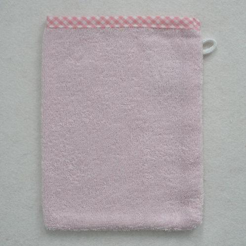 Waschlappen Waschhandschuh rosa Vichy Rand