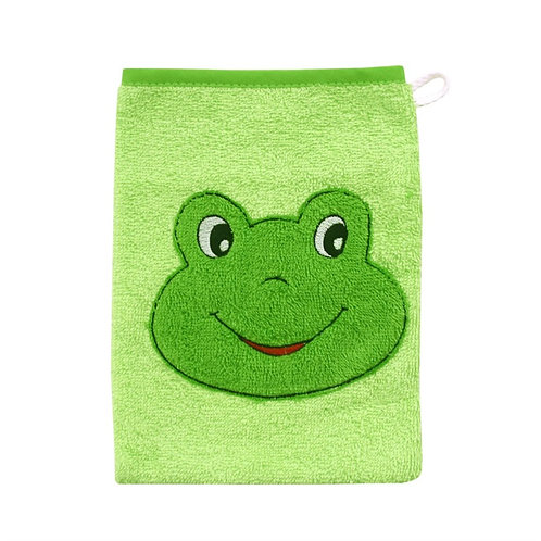 Waschlappen Waschhandschuh Frosch