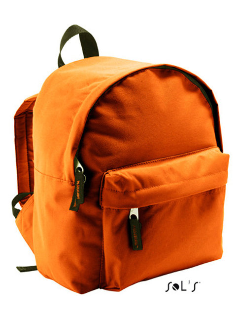 Kinderrucksack orange mit Namen ODER Motiv bestickt