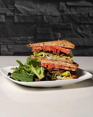 vegan plant based tempeh blt sandwich
